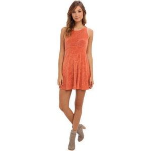 NWT Free People Orange Open Back Dress